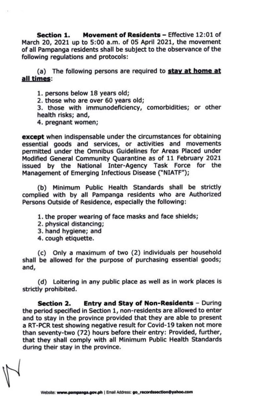 pampanga household lockdown